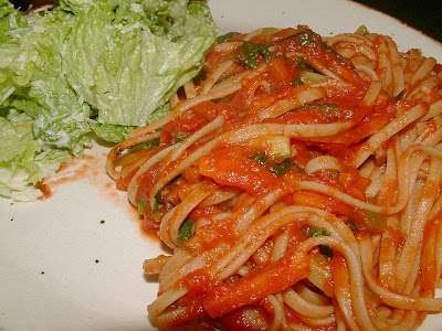recettes plats  Linguine au jambon