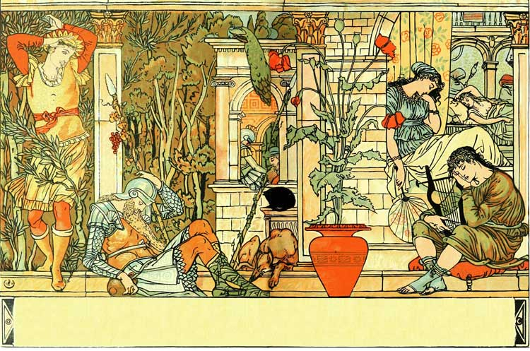 The Textile Blog: Walter Crane Nursery Wallpapers - Sleeping Beauty Nursery Theme
