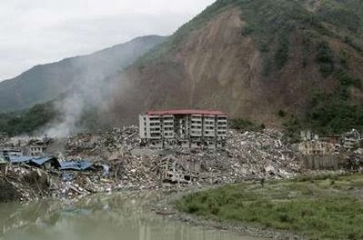 Updated 16th May  twice   Sichuan Earthquake landslide imagesEarthquake Landslide