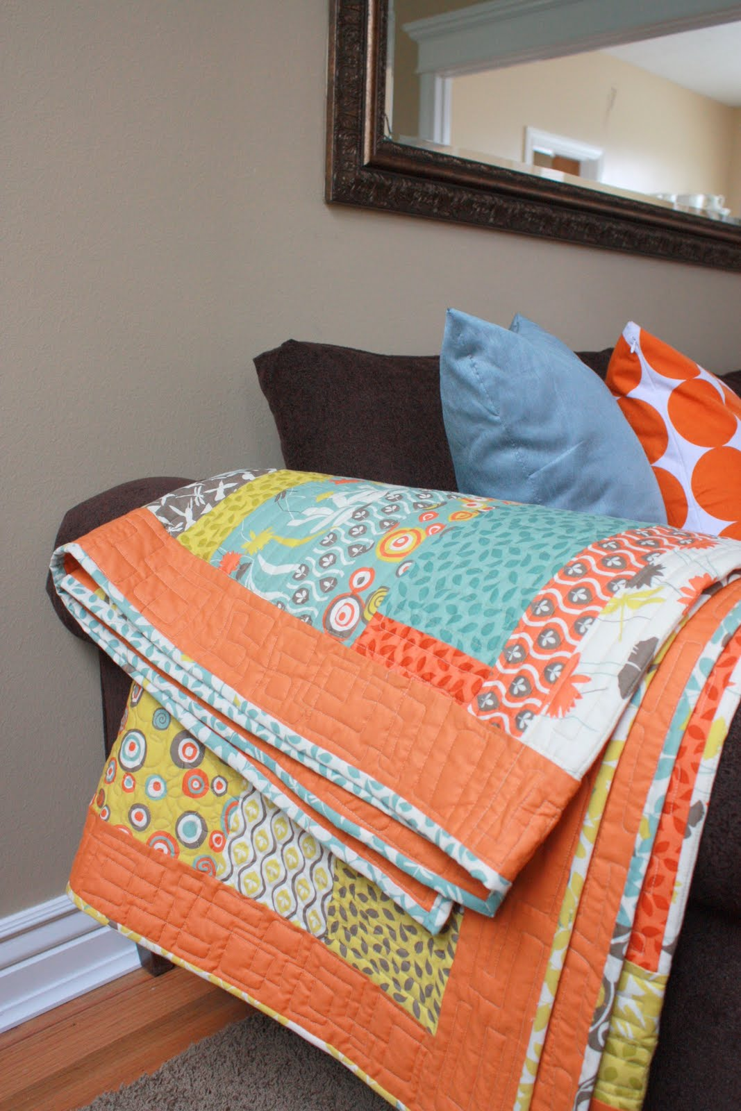 Second hand living room diary of a quilter a quilt blog for Living room quilt
