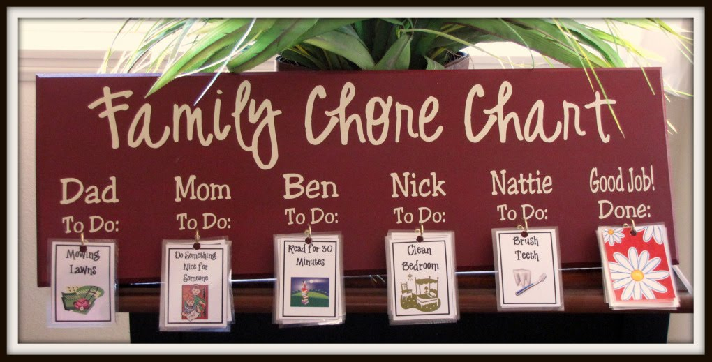 Super Saturday Crafts Family Chore Chart