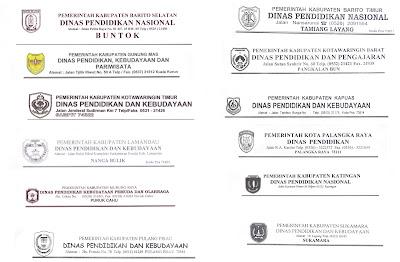 Potret Pendidikan Kalimantan Tengah Kop Surat Dinas Pendidikan Se