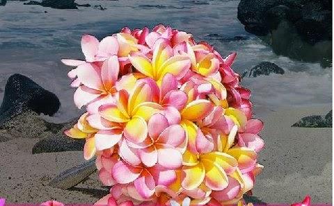 hawaiian wedding flowers. hawaii beach wedding bride: incredible tropical florals for a hawaiian flowers