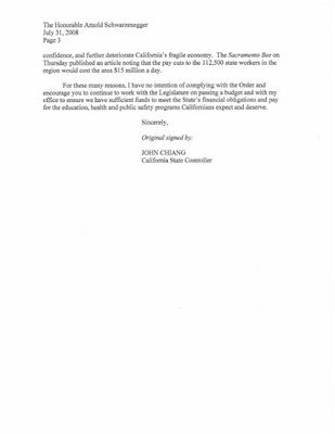 John Chiang Letter to Governator