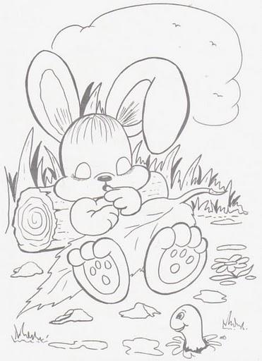 Conejo Durmiendo Para Colorear Dibujos Para Colorear