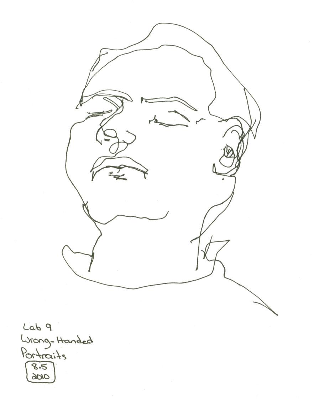 Deb Dugan: Drawing Lab 9 Wrong-handed Portrait