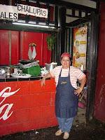 Nora Aguilar, dueña del puesto de tacos del Morera Soto