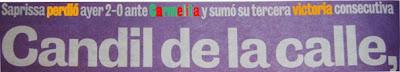 Saprissa perdió ayer 2-0 ante carmelita y logró su tercer victoria caballadas la teja