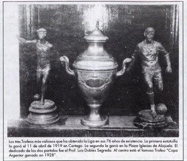 primeros trofeos ganados por liga deportiva alajuelense