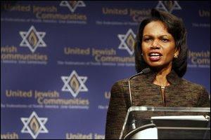 condoleezza rice israel sacrifices
