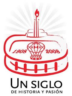 Logo del centenario de Huracán