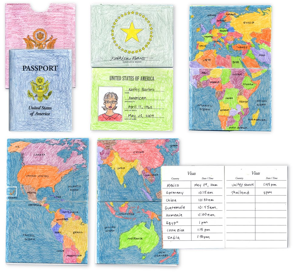 Passport Template For School Project Leonarddeane1 S Blog