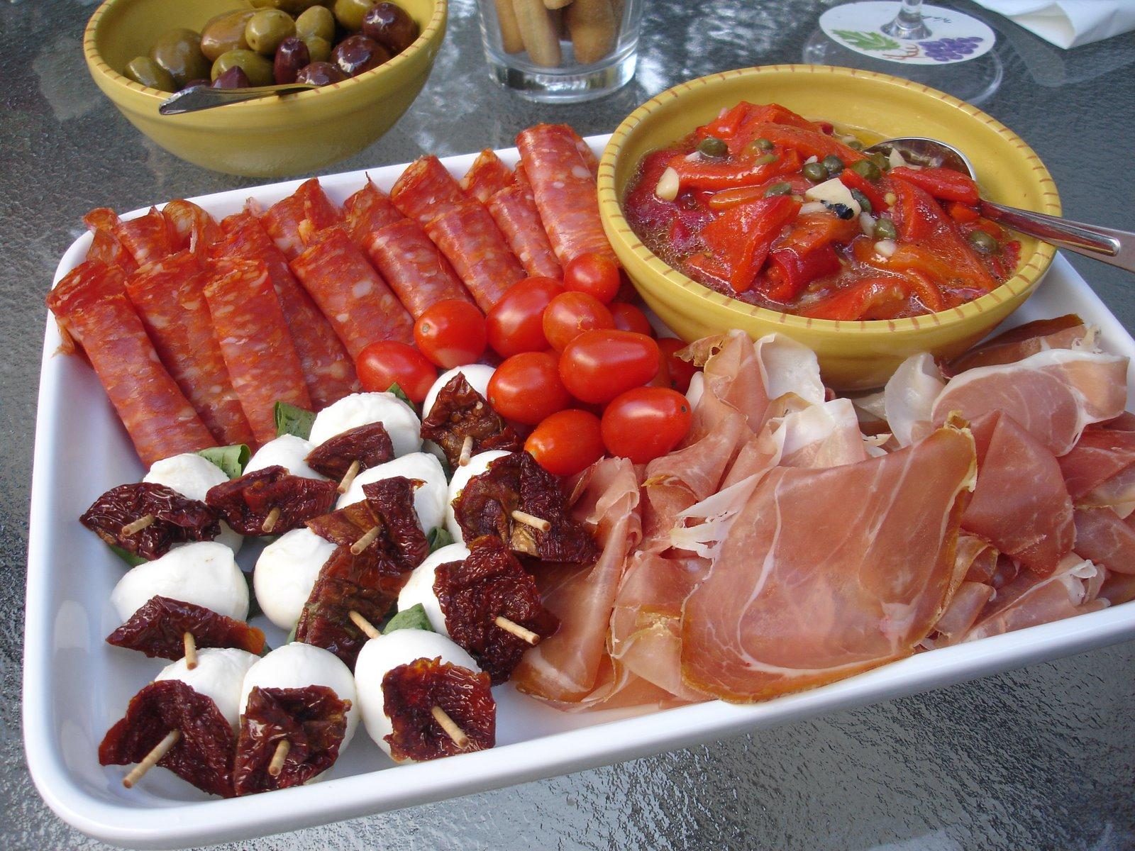 Italian cuisine tuna toast Ina garten appetizer platter