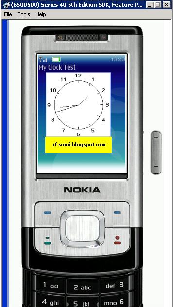 MDB Blog: J2ME | Analog Clock control - custom item