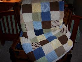 All Chenille Handmade Quilt