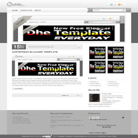 whitePress (Full Version) Blogger Template | DheTemplate