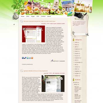 Measure Time in Germany blogger template. template blog from wordpress.
