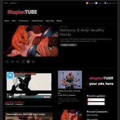 Simplex Tube - Renewed Version blogger template. magazine blogger template. template magazine blogspot. video blogger template