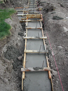 Garage and Studio Construction Retaining Wall Footings