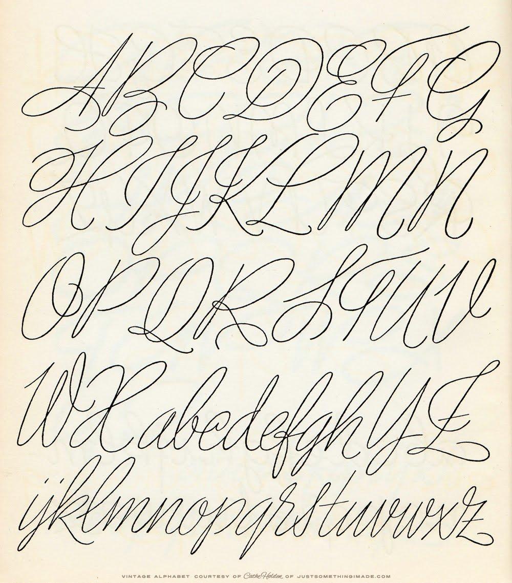 Free JSIM Vintage Alph...M Design Alphabets