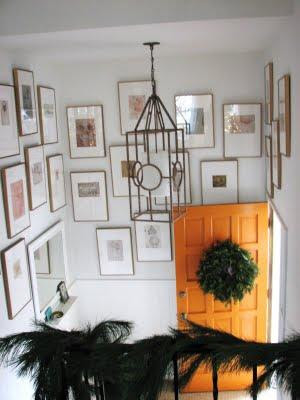 Photo gallery around a staircase