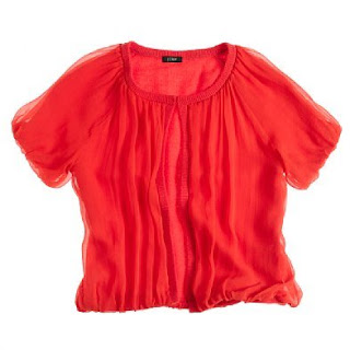 I Love shopping in Utah! I got this red blouse for work.