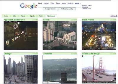 Convierte la página de inicio personalizada de Google en un portal de webcams