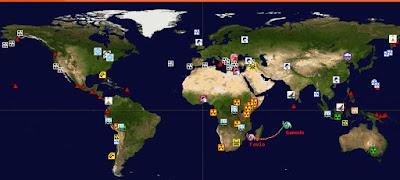 Observa los desastres del mundo en tiempo real