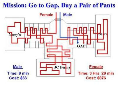 0f9db273439da Diferencias entre hombre y mujer de compras