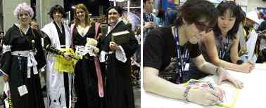 Left Picture With Special Guest Tite Kubo Scheduled To Appear At Comic Con 2008 Characters From Bleach Were A Popular Cosplay Theme In The Exhibit Hall