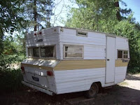 Vintage travel trailer.