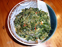 sambal tapioca leaves