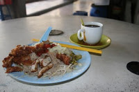 vegetarian bee hoon n coffee
