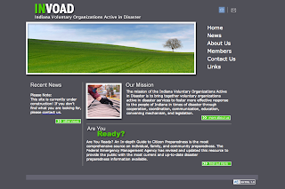 the new invoad homepage, a dark gray background with bright green headers and buttons