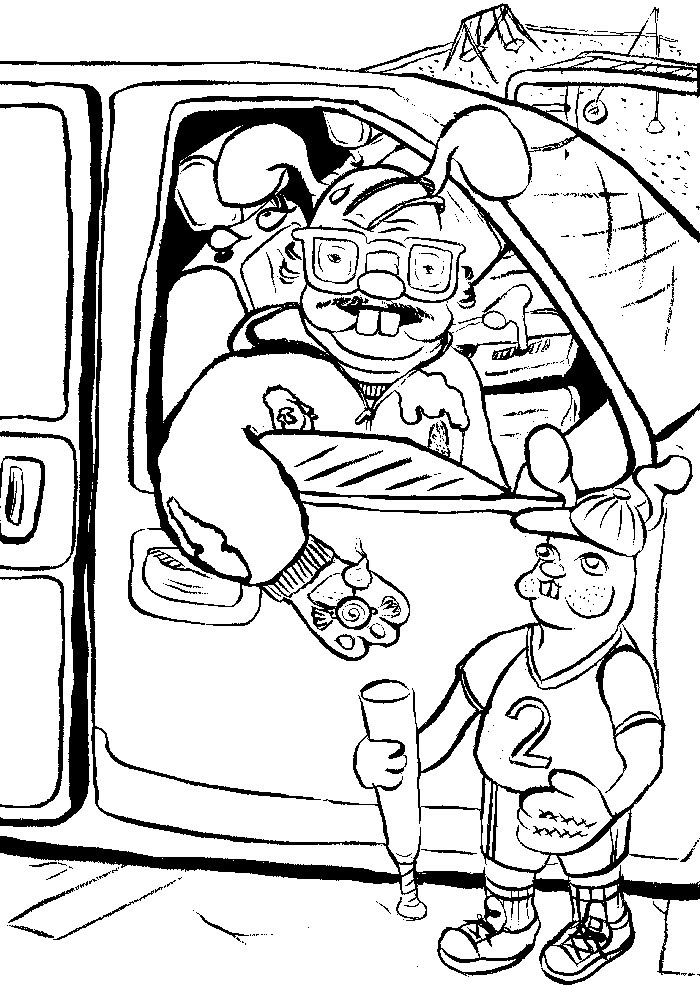 Sweet Potatoes Coloring Page