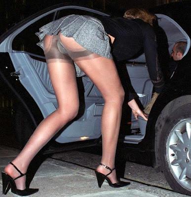 Stockings upskirt