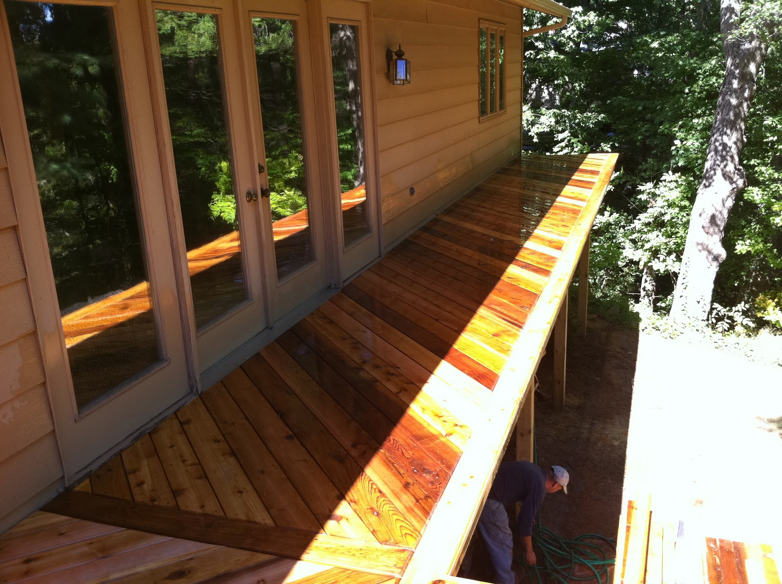 Outdoor Living A New Walk Out Cedar Deck