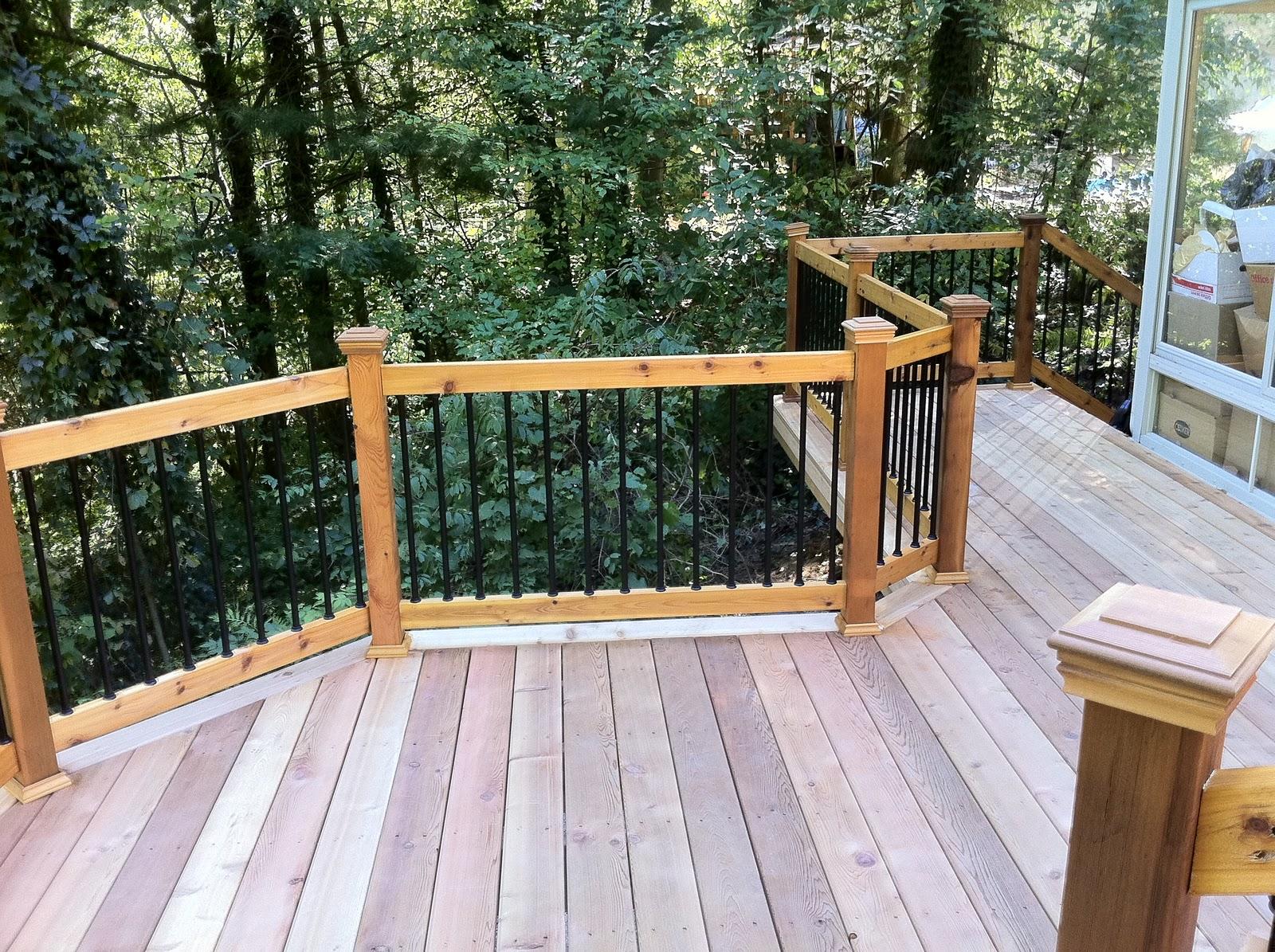 Outdoor Living A New Walk Out Cedar Deck