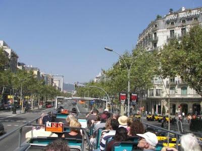 Avinguda Diagonal Bus Turistic Barcelona