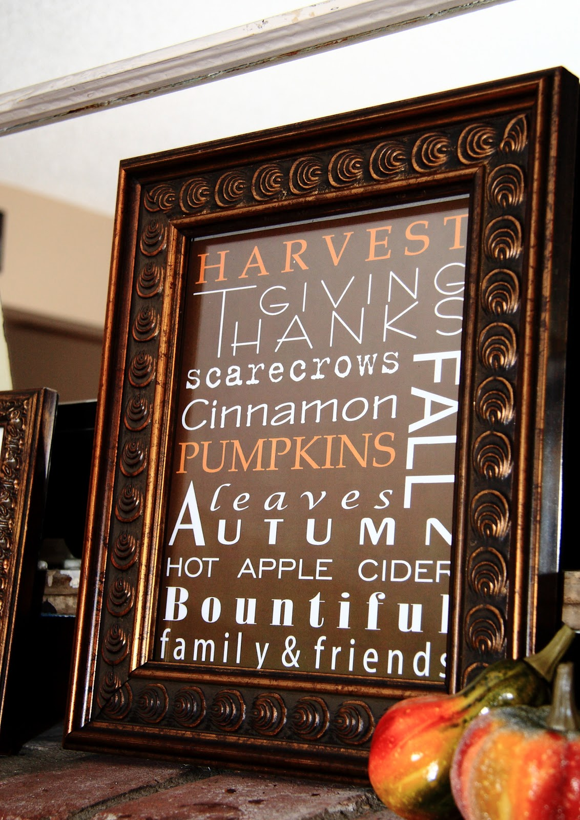 My Fall Mantle And Fall Scripture Amp Subway Art Printables