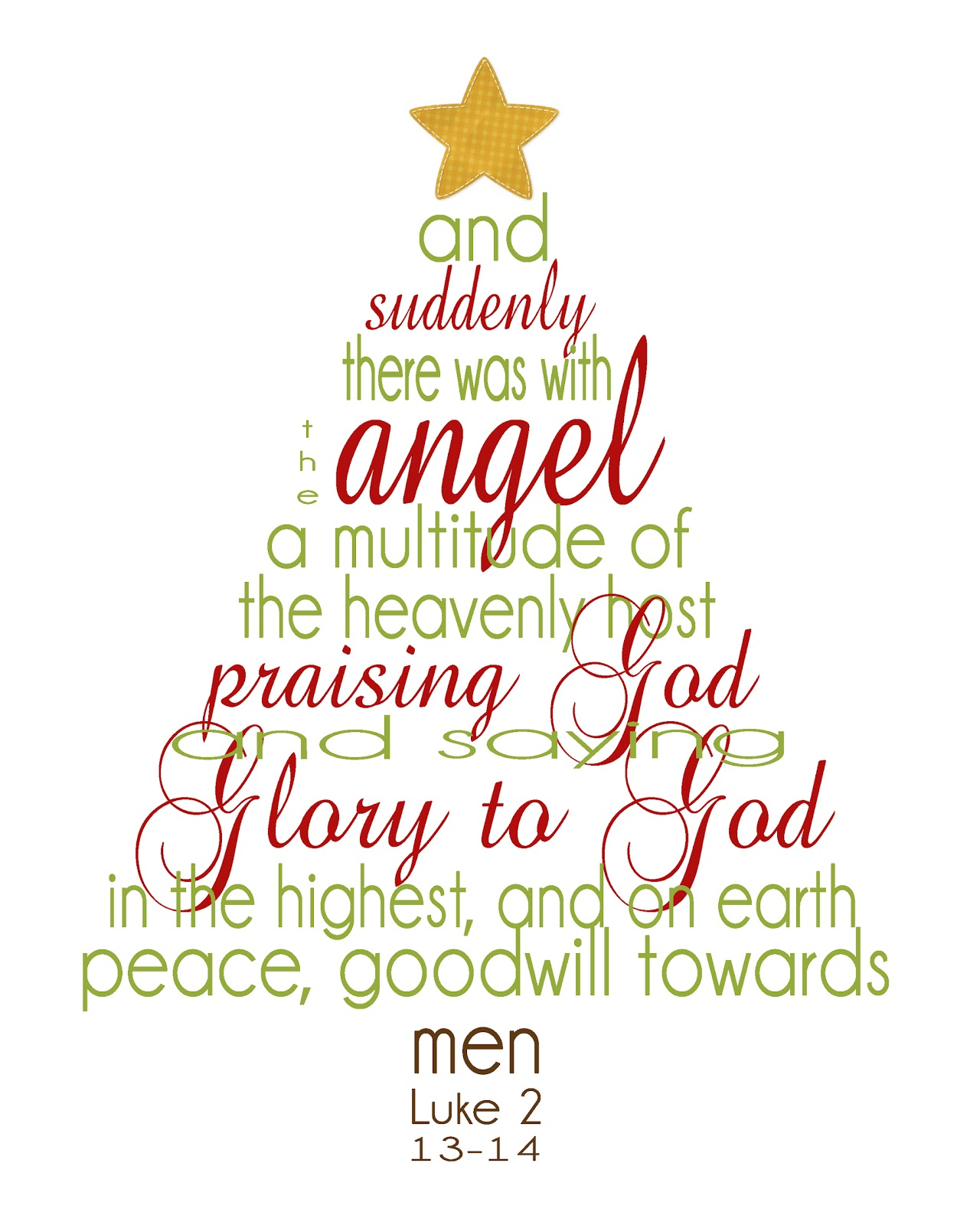 Luke 2 13 14%25282%2529 - 30+ FREE Christmas Printables