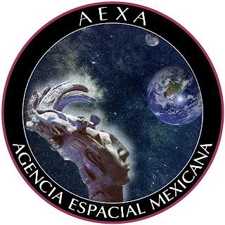 Escudo de la Agencia Espacial Mexicana.