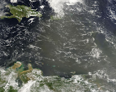 Polvo del  Sahara Arropa  a Puerto Rico