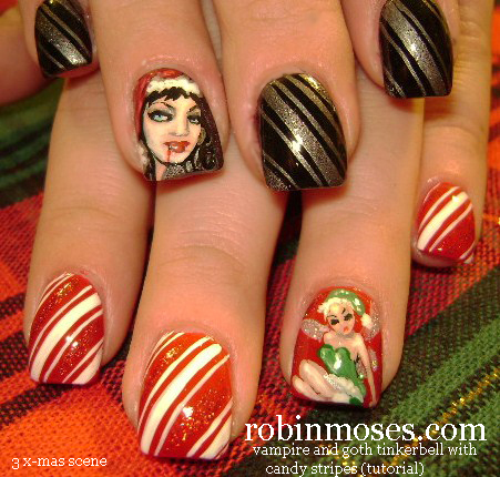 Nail Art By Robin Moses Christmas Nails Cute Christmas Nails