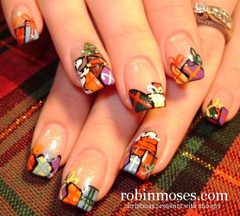 Nail Art By Robin Moses Christmas Nails Cute Christmas Nails