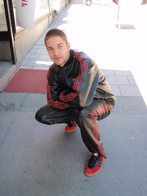 Six Feet Down Adidas Leather Track Suit