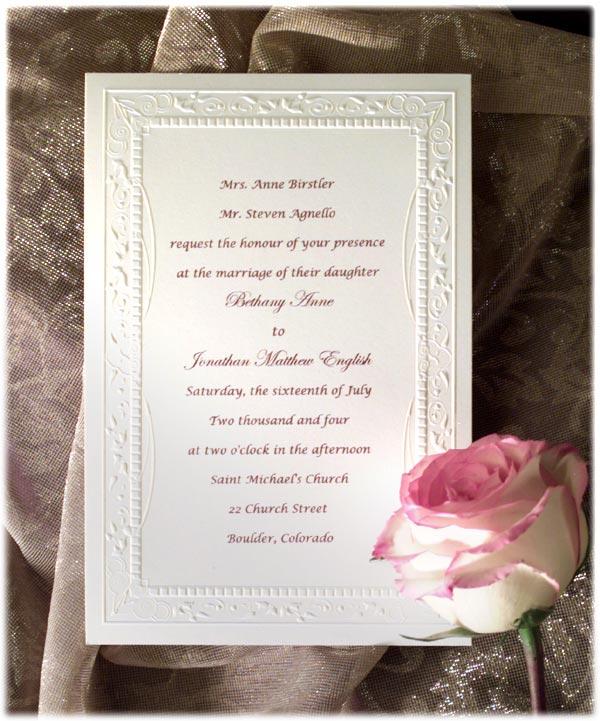 Parents Wedding Invitation Wording: Wedding: Invite Wording, No Children