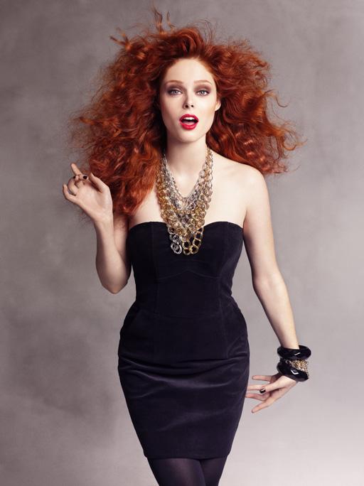 Redpoppy Fashion Redheads Wearing Black