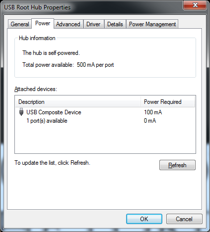 Windows Tip of the Day: Windows 7: Checking USB Device Power
