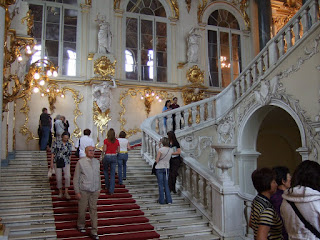 Staircase in winter palace part of the hermitage museum